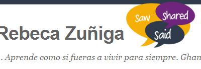 Rebe Zuñiga: Aprende como si fueras a vivir para siempre